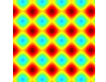Excitons in potential lattices